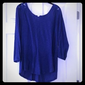 Lucky Brand blue blouse.
